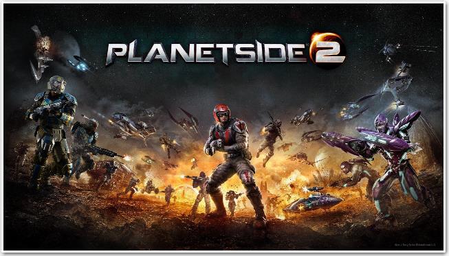 Обложка ммо стрелялки PlanetSide 2